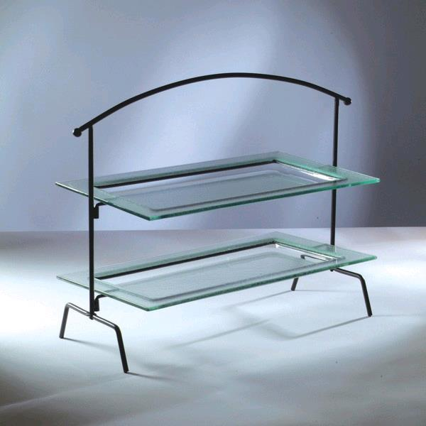 Where to find GLASS 2-TIER RECTANGULAR TRAY in Portland