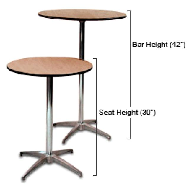 Round Coffee Table Measurements: COCKTAIL BISTRO TABLE PKG Rentals Portland OR, Where To