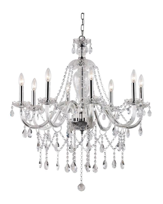 TENT 8 LIGHT CRYSTAL CHROME CHANDELIER Rentals Portland OR Where To Rent TEN