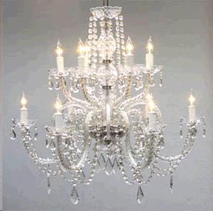 Where to find TENT, 12 LIGHT 2 TIER CRYSTAL CHANDELIER in Portland