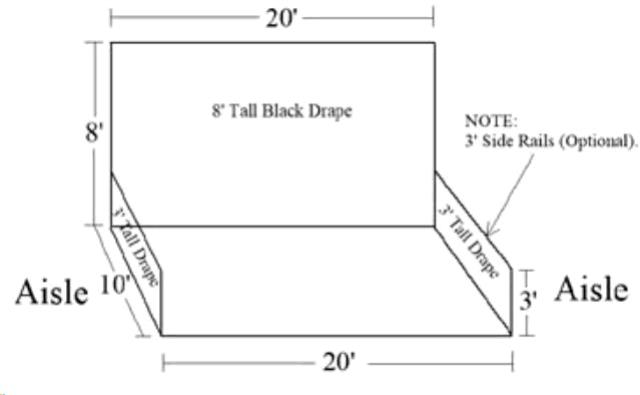 Where to find 10  x 20  PIPE   DRAPE BOOTH in Portland