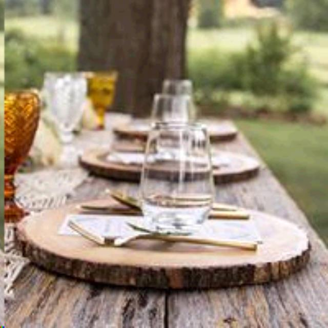Wedding Tent Rentals Portland Oregon: CHARGER WOOD SLICE 13 INCH Rentals Portland OR, Where To