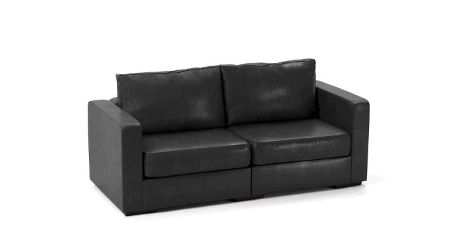 LEATHER SOFA 2 SEAT BLACK Rentals Portland OR, Where to Rent ...