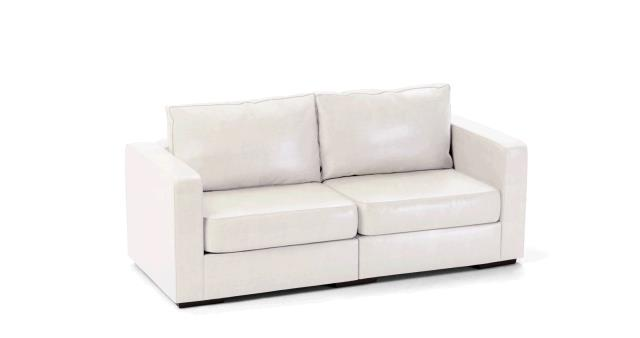 LEATHER SOFA 2 SEAT WHITE Rentals Portland OR, Where to Rent ...