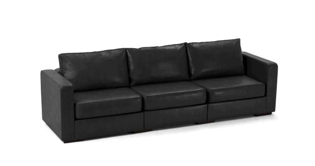 Where to find LEATHER SOFA, LONG BLACK in Portland