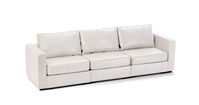 Where to find LEATHER SOFA, LONG WHITE in Portland