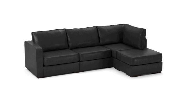 Where to find LEATHER SOFA, CHAISE BLACK in Portland