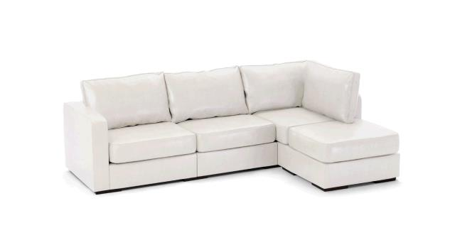 LEATHER SOFA CHAISE WHITE Rentals Portland OR, Where to Rent ...