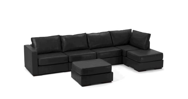 Where to find LEATHER SOFA, LONG CHAISE BLACK in Portland
