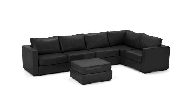 Where To Find Leather Sofa L Sectional Black In Portland