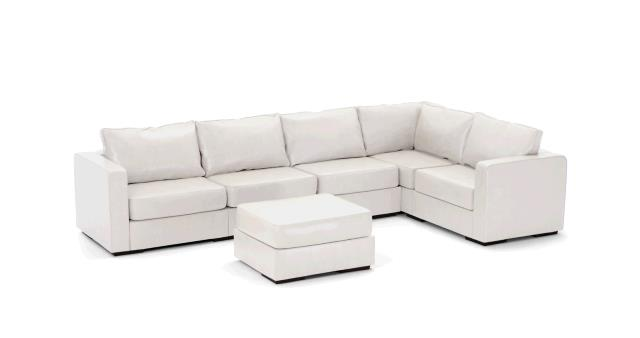 Where to find LEATHER SOFA, L SECTIONAL WHITE in Portland