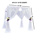 Rental store for Wedding Chuppah,  white Sheer in Portland OR