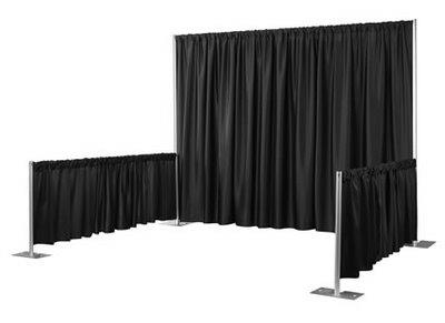 10 Foot X 10 Foot Pipe Drape Booth Rentals Portland Or