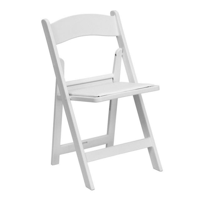 Where to find CHAIR . FOLDING WHITE RESIN in Portland