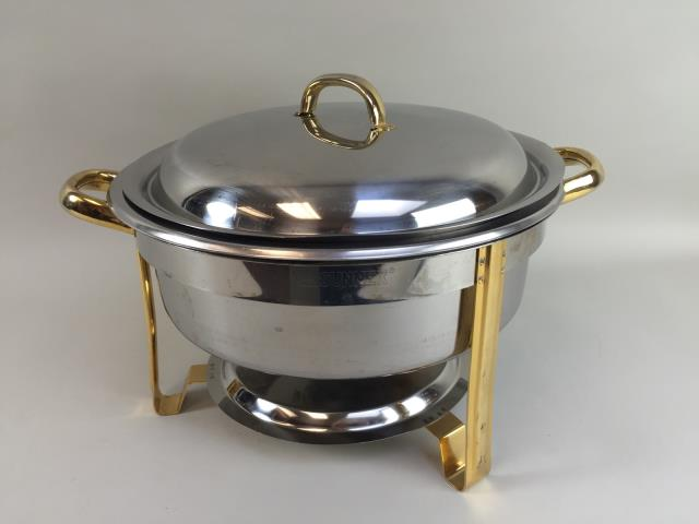 Where to find CHAFER, S.S.ROUND W BRASS 4 QT. in Portland
