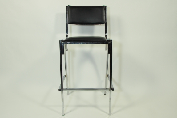 Where to find VINYL BAR CHAIR, BLACK in Portland