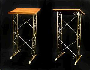 Podium Brass W Wood Top Rentals Portland Or Where To Rent Podium Brass W Wood Top In Portland